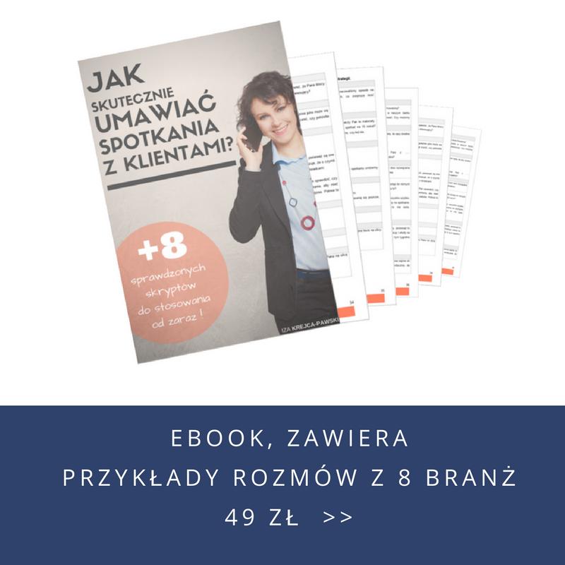 Ebook Jak skutecznie umawiać spotkania z klientami. Iza Krejca-Pawski
