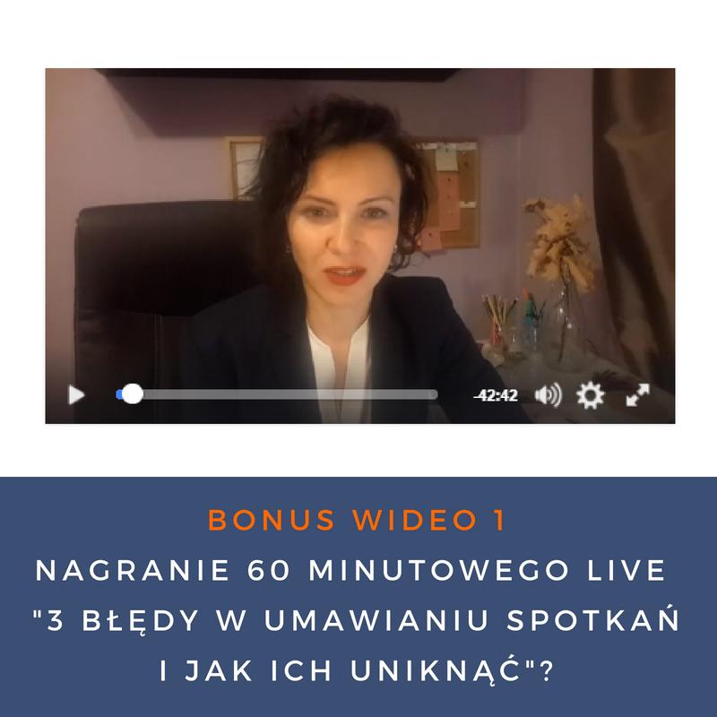 BONUS  WIDEO NR 1 Nagranie  60 minutowego LIVE