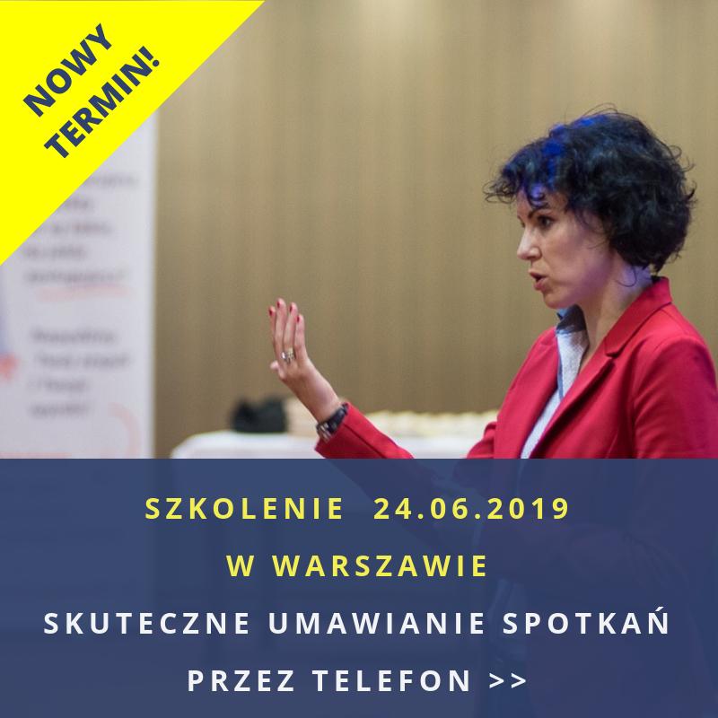 Umawianie spotkań – SZKOLENIE w Warszawie: