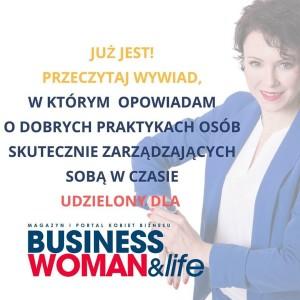 Wywiwad dla BusinessWoman and Life Zarządzanie Czasem Iza Krejca Pawski